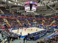 A EuroLeague game in Moscow in 2018
