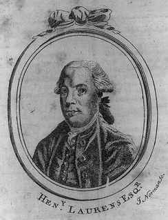 Portrait of Laurens, Boston Magazine, 1784; engraving by John Norman