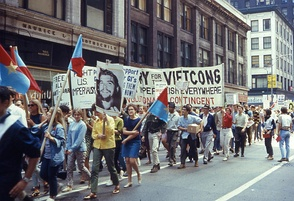This demonstration took place on August 10, 1968 as Chicago was preparing to host the Democratic National Convention.