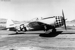 Republic P-47D-25-RE Thunderbolt 42-26422 (LH-E) of the 350th Fighter Squadron