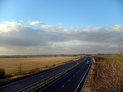 The A180 near Immingham, an important road for the authority