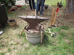 Anvil of a farrier