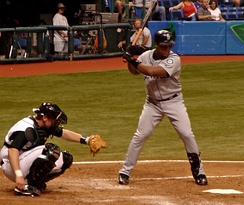 At bat while playing for the Seattle Mariners