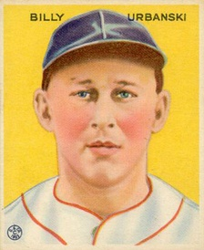 Billy Urbanski 1933 Goudey baseball card.