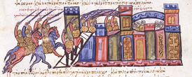 The troops of the Domestic of the Schools Nikephoros Phokas storm Aleppo in 962