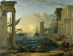 The Embarkation of the Queen of Sheba, Claude Lorrain (1600‒1682), oil on canvas