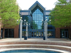 Entrance to the Spring Creek campus of Collin College in Plano, Texas