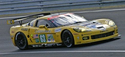 The No. 63 works team Corvette C6.R took pole and first place in GT1