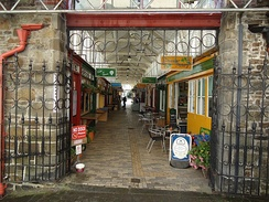 An Entrance to Butchers Row in Bideford Pannier Market.