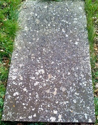 Waugh's grave in Combe Florey, adjacent to but not within the Anglican churchyard.