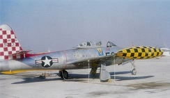 Republic F-84E-5-RE Thunderjet Serial 49-2133 of the 527th Fighter-Bomber Squadron
