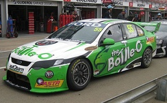 The Ford FG Falcon of Paul Dumbrell at the 2010 Clipsal 500 Adelaide.