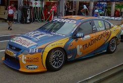 The Ford FG Falcon of Will Davison at the 2011 Clipsal 500 Adelaide.