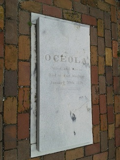Osceola's grave at Fort Moultrie