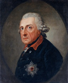 Frederick II, the Great, of Prussia reigned from 1740 to 1786.