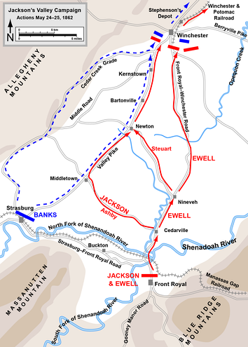 Actions from Front Royal to First Winchester, May 24–25, 1862.