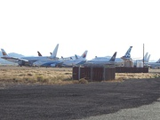 "The Phoenix-Goodyear Airport ""bone-yard"" where planes that are no longer in use are kept."
