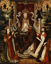 God the Father on a throne, Westphalia, Germany, late 15th century.