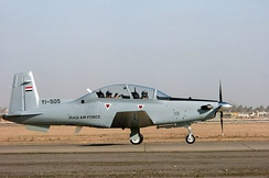 An Iraqi Air Force T-6A Texan II