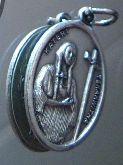 Blessed Kateri devotional medal.