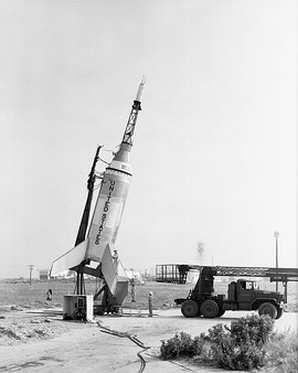Little Joe on launcher at Wallops Island - GPN-2000-001883.jpg