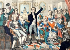 "Rouget de Lisle, the composer of the French national anthem ""La Marseillaise"", sings it for the first time. The anthem is one of the earliest to be adopted by a modern state, in 1795."