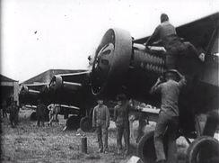 Nationalist warplanes being prepared for an air raid on Communist bases