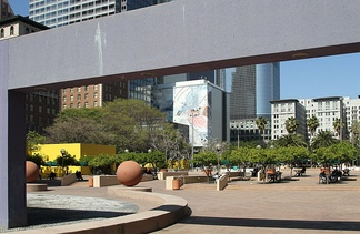 Paved areas and design of the modern Pershing Square