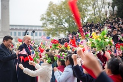 President Trump arrives in China in November 2017