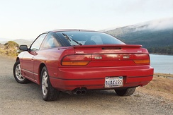 The facelift model Nissan 240SX SE Fastback (S13) in the USA.