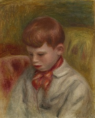 Painted bust portrait of Jean Renoir as a young boy