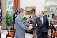 Cheney meets with President Ronald Reagan, July 1983