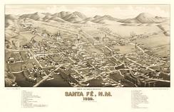 Santa Fe, 1882, the railroad era