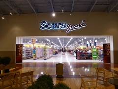 2013 photo of the mall entrance to the Sears Grand at Pittsburgh Mills in Tarentum, Pennsylvania. This Sears closed in January 2015.