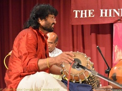 A Percussion Instrument named Mridangam played by T S Nandakumar