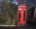 Traditional red telephone box at Nant Glas