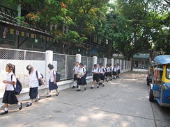 Primary-school students in Thailand
