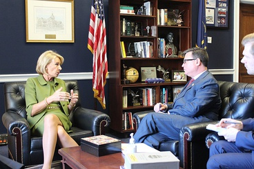 Todd Rokita discusses education policy with Education Secretary Betsy Devos