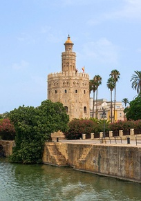 The Torre del Oro is another example of Almohad architecture in the city.