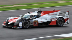 The race winning #8 Toyota TS050 Hybrid, pictured at the 2018 6 Hours of Silverstone