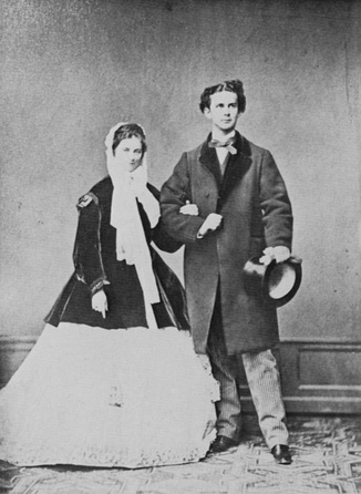 Ludwig II and his fiancée Duchess Sophie in Bavaria in 1867