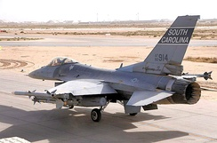 157th EFS F-16C 92–3914 at Balad AB, Iraq, 2010