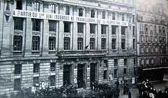 Bourse du travail in Paris during a strike for the eight-hour day in 1906