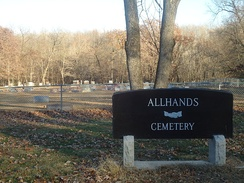 Allhands Cemetery, located in the southeast corner of Kickapoo State Park, is the final resting place for many early European settlers from the early 20th century.
