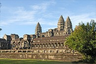 Angkor Wat, Cambodia, symmetry and elevation have often been utilised in the architectural expression of religious devotion  or political power.
