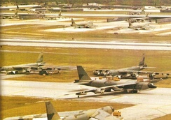 B-52 at Andersen Air Force Base, during Operation Linebacker II in Vietnam War, 1972