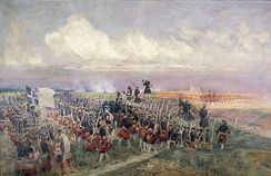 The Gardes françaises at the battle of Fontenoy (1745)