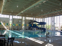 The pool in the Student Life Center (SLC)