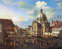 Warsaw New Town in 1778. Painted by Bernardo Bellotto