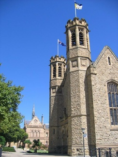 Bonython Hall and Mitchell Building from North Tce (looking west).